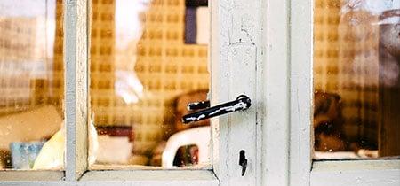 deur met glas